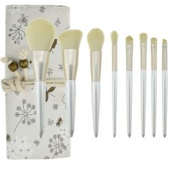 Veganhaar 8-DELIGE Cosmetic Makeup Brush set met Roll Bag