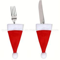 OEM Mini de Noël Noël Hat coutellerie couteau cuillère Sac de fourche