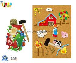 Giocattoli di legno educativi intellettuali di puzzle per il regalo dei capretti, gioco del martello delle 23028 aziende agricole