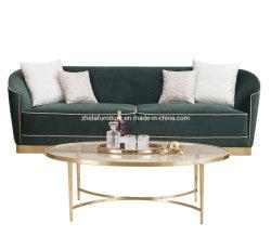 Accueil Salle de séjour de luxe moderne tissu Loisirs canapé Set de meubles