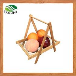 Panier de pliage de bambou pour les fruits Légumes Aliments