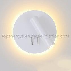 LEDはSconcesの現代寝室部屋の学習参考書ランプ220Vの円形の頭板の壁ランプの通路の装飾の芸術ライトをつける