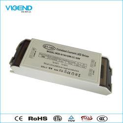 30W à intensité réglable 0-10V Utilisation du transformateur de puissance LED pour l'éclairage