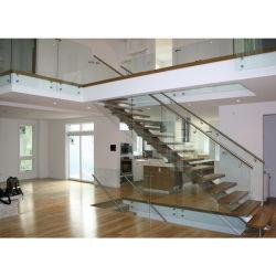 Faible coût de conception moderne en bois escalier de voie