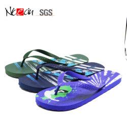 La impresión de los hombres de goma de zapatillas de PVC Tientos Chanclas personalizadas