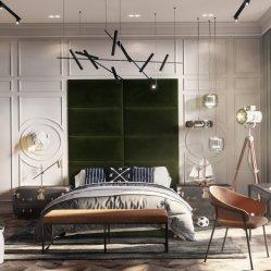 Hôtel 5 étoiles Chambre à coucher Mobilier de luxe build-in