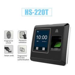 Carte de contrôle d'accès 13.56MHz temps système de la fréquentation d'empreintes digitales biométriques (HS-220TC)