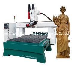 3D machine à sculpter la statue de la mousse de voiture du moule de la mousse CNC Router avec axe de rotation