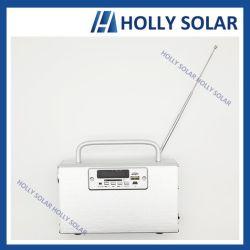 2019 Banheira de venda de energia solar rádio portátil sem fio U-disc player de música