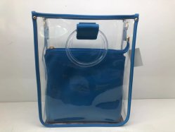Таким образом дамы сумочку ясно ПВХ сумки через плечо мешок для покупок