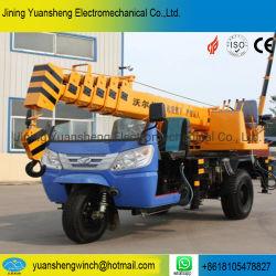 China-Hersteller 2 Tonnen-hydraulisches Bewegungsdreirad eingehangener mobiler ineinandergeschobener Kran für das Anheben