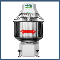 Heavy Duty Velocidad Doble espiral de la masa de Doble Acción Mezcladora Amasadora Ymj 50kg-50