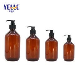 Cosmétique de l'emballage PET en plastique orange des bouteilles de shampooing conditionneur