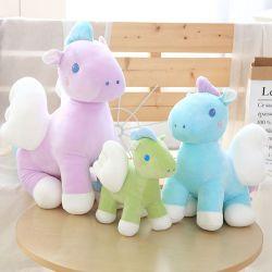 작은 말 인형 견면 벨벳 장난감 휴일 생일 선물에 기대기를 위한 사랑스러운 날개 망아지 사무실 방석은 주문을 받아서 만들어질 수 있다