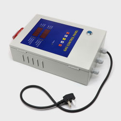 LED表示ガス探知器のコントローラが付いている壁に取り付けられた火災報知器のコントロール・パネル
