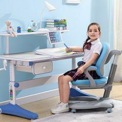 Casa moderna Escuela de dormitorio Muebles de estudio de los niños de guardería mesa y silla con la función regulatoria