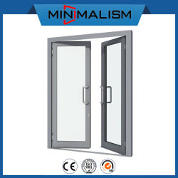Aluminiumrahmen mit doppelter Hartglas-Schwingen-Tür/Amerika-Standard