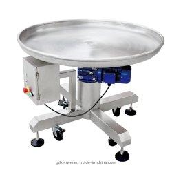 Transportador de alta calidad en la tabla de recogida de rotación de la máquina de embalaje
