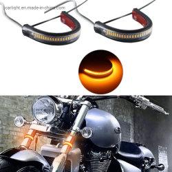 Voyant de la fourche de moto bande Clignotants feux indicateur de virage pour Moto Moto universel Lampes de feux