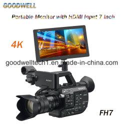 Campo de la cámara de 7 pulgadas Monitor HD 1920 X 1200