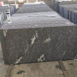 Pisos de granito flameado Negro y Blanco de vapor de granito gris