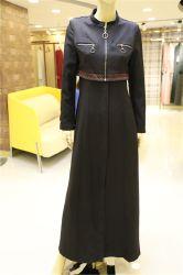 Мусульманские хорошие цены Outerwear исламской моды Одежда повседневная черный длинный тонкий слой для женщин в наличии на складе