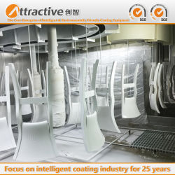 Indonesia Hot-Selling recubrimiento curado UV de Pintura de línea de producción línea de ensamblaje para la fabricación de muebles sillas