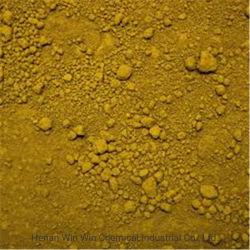 Poudre de pigments inorganiques oxyde de fer jaune 311/313 pour la construction/ciment/brique