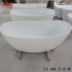 Commerce de gros Pierre résine moderne de très petites baignoires autostable ovale blanc