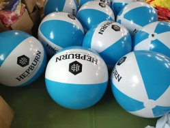 Il ftalato libera la sfera di spiaggia dei 6 comitati con il ftalato gonfiabile MOQ basso libero della sfera del PVC di marchio