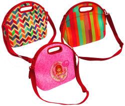 Красивые игристое Русалки весы изоляцией неопреновые обед женская сумка дамской сумочке Lunchbox продовольственной контейнер брелоки для гурманов охладитель теплый чехол для школьной работы Управления