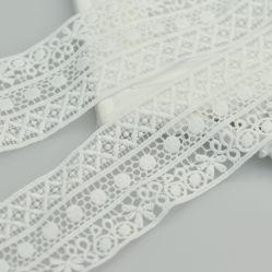백색 폴리에스테 레이스 트리밍 의복 부속품