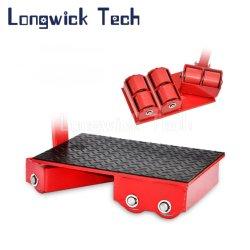Transporte de carga pesada carga dever efectuar Movimentador de plataforma Skids Rolete Pivotante Carrinho