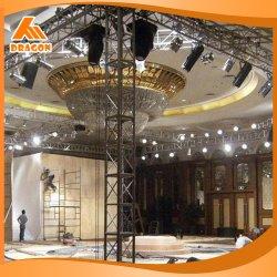 Venda a quente de exposições de alumínio Truss, treliças de iluminação, sistema de bastidor