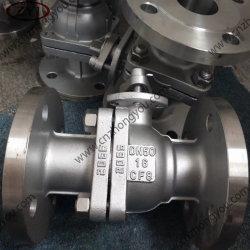 En Línea de aislamiento de la presión nominal 2 Pieza puerto estándar Válvula de bola forrada de PTFE
