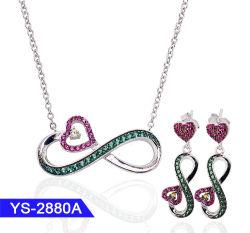 Nieuwe Fashion Jewelry 925 Sterling Silver of Brass ketting en Oorring set te koop