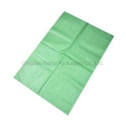 100% переработанного прочного тканого пластиковый мешок из полипропилена и зеленого цвета