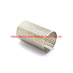 Из нержавеющей стали с круглыми отверстиями перфорированной металлической трубы проволочной сетки фильтра/цилиндров