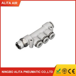 Methoden-Gewinde-pneumatisches Luft-Schlauch-Verbinder-Plastikrohrfitting der Pkd Serien-5