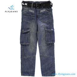 Veelvoudige Zak en de Comfortabele Jeans van het Denim van Jongens door de Jeans van de Vlieg