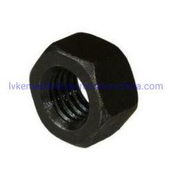 Для тяжелого режима работы на молнию черная сталь Oxidate шестигранная гайка DIN 934