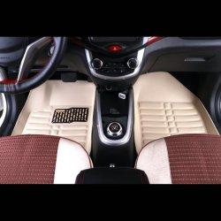 Hoogwaardig pvc de Matten van de Vloer van de Voet van de Auto van de Korrel van het Leer van de Matten van de Auto van 5 Stukken