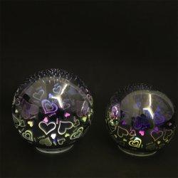 ホーム装飾のスリップ防止ベースが付いている電池式3D魔法のガラス玉LED夜ライト
