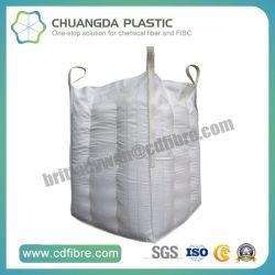 FIBC personnalisé Jumbo grand sac de cubes en vrac avec l'intérieur du déflecteur