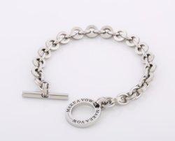 Amante de jóias em aço inoxidável Fashion bracelete de Prata