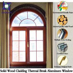 نوافذ مصنوعة من الخشب الصلب على النمط الأوروبي، تقنيات طلاء الإطار المصنوع من الألومنيوم للحراكة الحرارية
