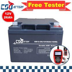 自動車のためのCsbattery 12V 26ahの太陽記憶AGM電池はまたはまたは力ツールか太陽パネルまたはForklift/AAAエンジン開始する