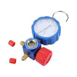 Le collecteur à double jeu de jauges de jauge de fluide réfrigérant Kit Outil de mesure de pression d'équipement de réfrigération avec 3 kit de recharge