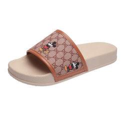 Senhoras Cartoon Pattern chinelos moda casual Slides Slides de Verão ao ar12738 ESG
