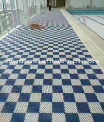 Módulo antideslizamiento hidrófobas alfombrilla para piscina